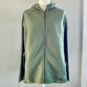 L.L. Bean Quiled Full ZIP Pullover
